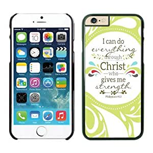 Christian Theme Bible Verse Black Iphone 6 Case 4.7 Inches Soft TPU Cute Phone Cover
