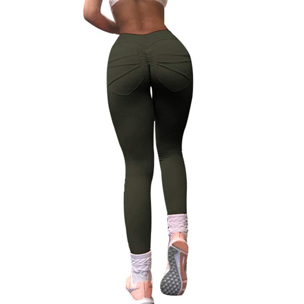 87a5c2457bc71 Mxssi Frauen Leggings Hohe Taille Push Up Elastische Lässige Workout ...