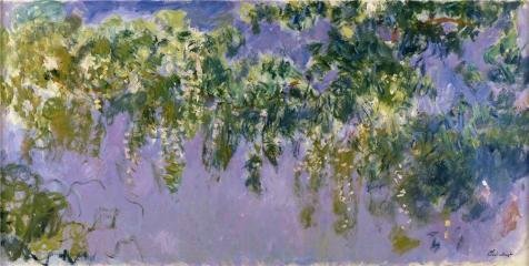 Ball Hugger Gloss (Oil Painting 'Wisteria, 1917-1920 By Claude Monet', 12 x 24 inch / 30 x 60 cm , on High Definition HD canvas prints is for Gifts And Dining Room, Foyer And Home Office Decoration, giant)