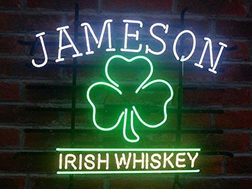 Jameson Irish Neon Sign 17''X14'' Inches Bright Neon Light Display Mancave Beer Bar Pub Garage