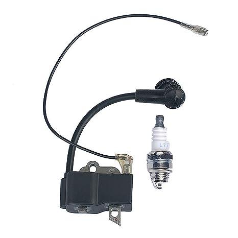 HIPA bobina de encendido y bujía para Stihl FS75 FS80 FS85 FC85 HS75 HL75 HT75 HL75