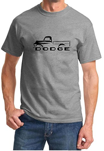 1948-53 Dodge B-Series Pickup Truck Classic Outline Design Tshirt medium grey ()
