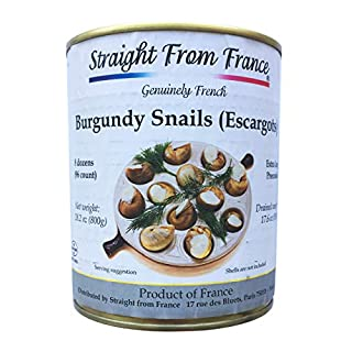 Straight from France Extra large French Helix Pomatia Wild Burgundy Canned Escargots Snails (8 Dozens)