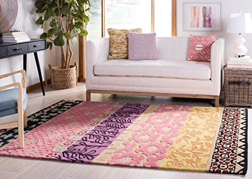 Safavieh Rodeo Drive Collection RD622K Handmade Rust and Gold Wool Area Rug 8 x 10