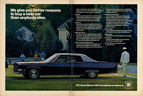 Better reasons to buy a new car than anyone else Buick Electra 225 ad 1971 SI