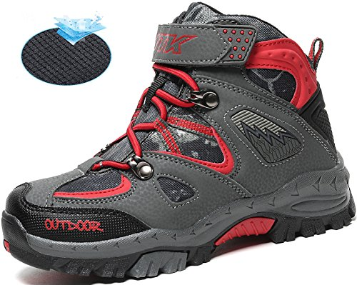 Littleplum AShion Boys & Girls' Hiking Shoes Outdoor Athletic Sneakers Breathable All Seasons Boots by Littleplum