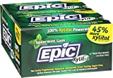 Epic Dental 100% Xylitol Sweetened Gum, Spearmint, 12 Count(Pack of 12)
