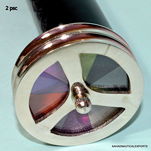 Antique Brass Double Wheel Kaleidoscope Brass Base Vintage Kaleidoscope gift 2 - Kaleidoscope Vintage