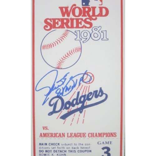 Los Angeles Dodgers Steve Yeager Autographed Hand Signed 1981 World