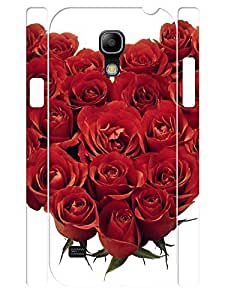 Cute Red Roses Pattern Handmade Cell Phone Protective Cover Case for Samsung Galaxy S4 Mini I9195 hjbrhga1544
