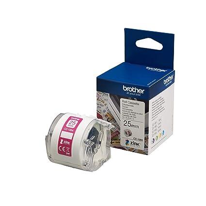 Brother CZ-1004 - Cintas para impresoras de etiquetas (CZ, inyección de tinta, VC-500W), rosa
