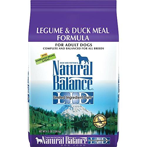 Natural Balance L.I.D. Limited Ingredient Diets Dry Dog Food, Grain Free, Legume & Duck Meal Formula, 4.5-Pound