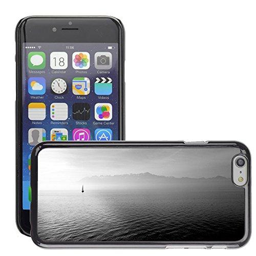 "Stampato Modelli Hard plastica Custodie indietro Case Cover pelle protettiva Per // M00421713 Bateau à voile Ocean Open Sea eau // Apple iPhone 6 4.7"""