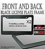 #7: ICBEAMER License Plate Frame Waterproof Front Back able DIY Print On Logo Fit Vehicle Car Truck Van SUV [Pack of 2]