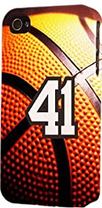 Basketball Sports Fan Player Number 41 Plastic Snap On Decorative iPhone 5c Case