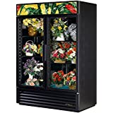 True GDM-49FC-LD Glass Swing Two Section Door Floral Case Refrigerator