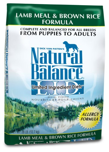 Natural Balance Limited Ingredient Diets, Lamb Meal and Brown Rice , 28 Pound Bag, My Pet Supplies