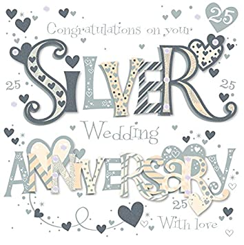 on your silver 25th anniversary greeting card by talking pictures