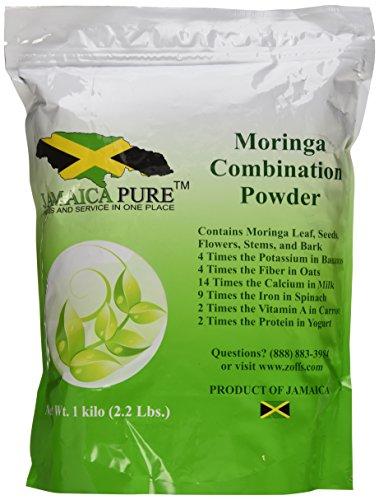 Moringa Combination Powder 1 Kg /2.2 Lb (Includes leaves, Seeds, Pods, Stems, Barks (1kg Powder)