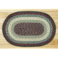 Earth Rugs MS-015 Oval Swatch, 10 x 15, Blue/Burgundy