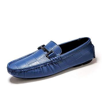 FHTD Zapatos De Hombre De Cuero Primavera Otoño Mocasines De Confort Y Slip-ONS para Casual Oficina: Amazon.es: Deportes y aire libre