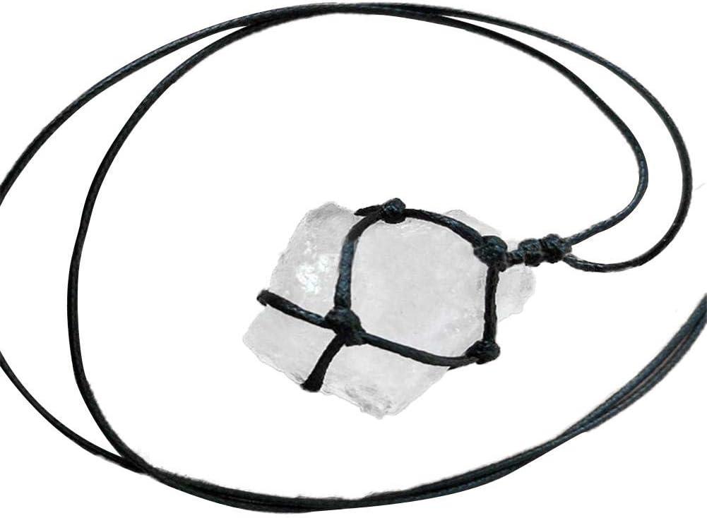 Sliveal Cuarzo Piedra Fluorita Cristal Blanco Transparente Color Primario Rocas Coleccionables Naturaleza Piedra Cruda para Collar Colgante Fabricación Decoración Regalo