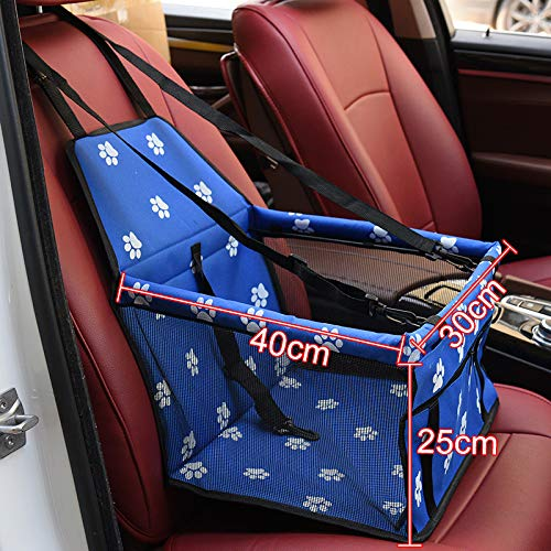 bluee 400x300x250mm Aigou Dog Bed Pet Car Booster Seat Front Seat Cover For Dog Cat, Portable 2In1 Dog Seat Predection NonSlip Waterproof With Safety Belt