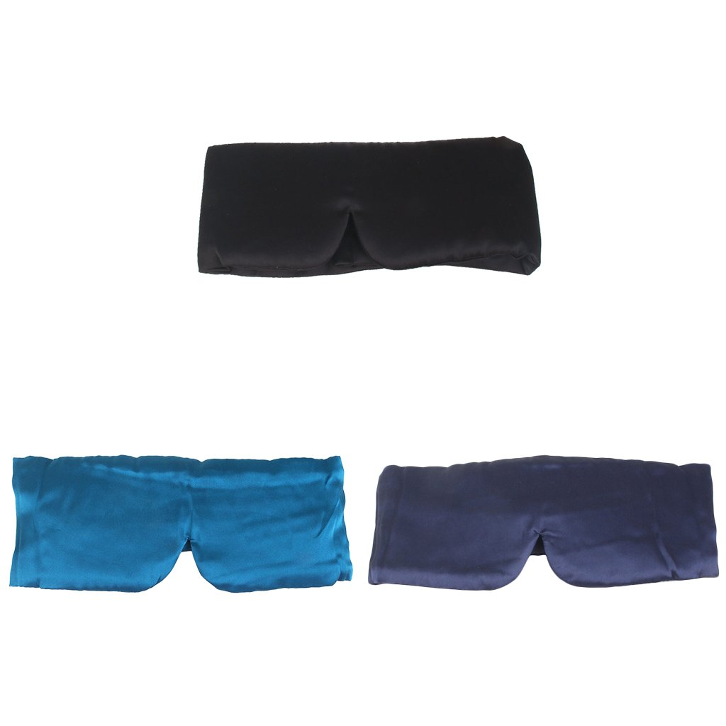 Dovewill 3Pcs Oversized Silk Eye Sleep Mask Padded Cover Shade Blinder Travel Relax