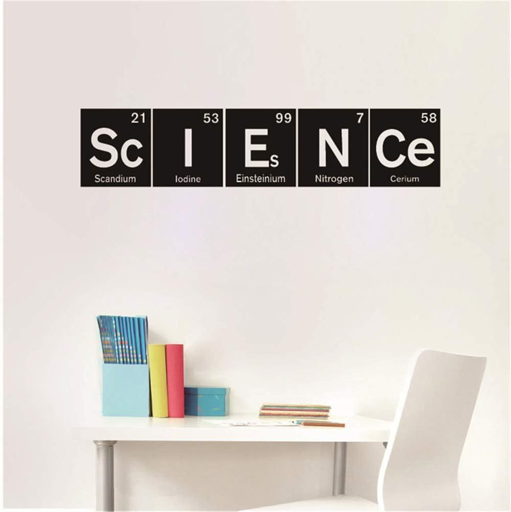 Etiquetas de pared de vinilo de ciencia decoración artística, tabla periódica - elementos de vinilo etiqueta de arte de la pared para la escuela aula decoración 135 * 30 cm: Amazon.es: Bricolaje y herramientas