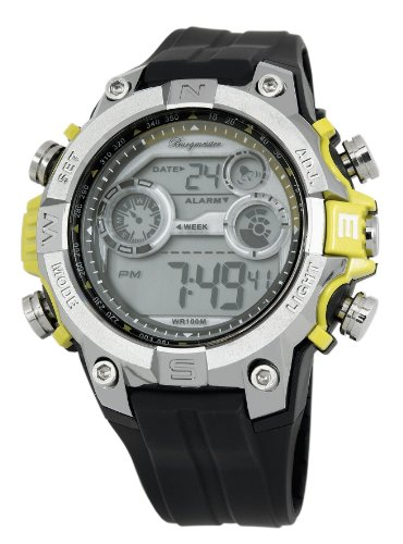 Burgmeister Men's BM800-112E Digital Power Alarm Chronograph Watch