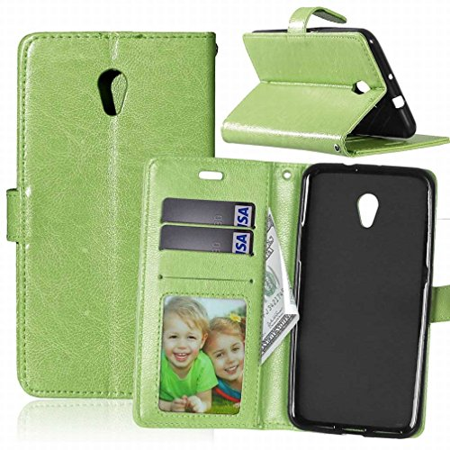 Yiizy Blade Zte V7 Case, Frame Design Flap Wallet Flip Cover Housing Case Pu Premium Leather Cover Shell Bumper Skin Protective Shell Case Stand Slim Slot Style Cards (green)