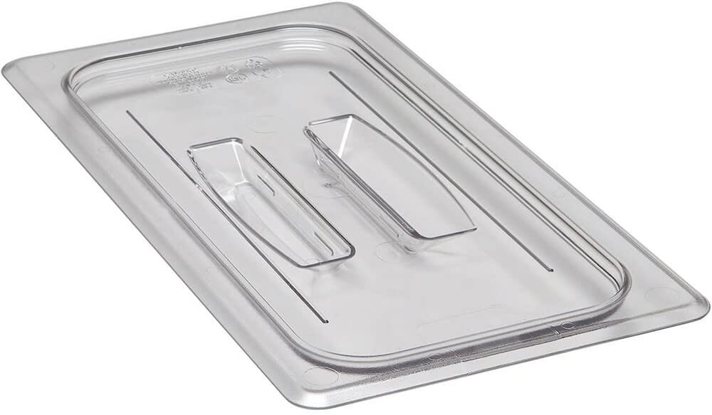 Cambro 30CWCH135 Camwear Food Pan Cover 1/3 size flat with handle clear - Case