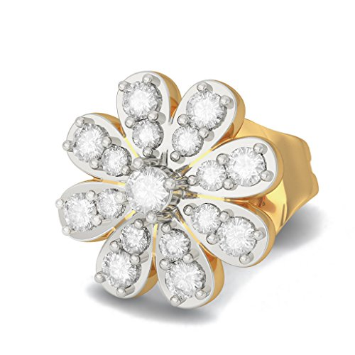 Or jaune 18 K 0,23 carat au total White-diamond (IJ | SI) Boucles d'oreille à tige