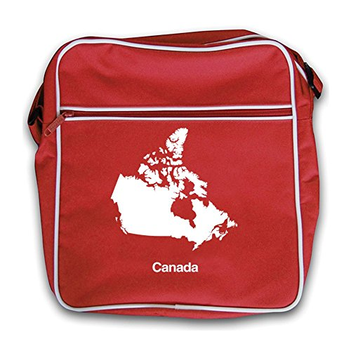 Silhouette Bag Red Flight Canada Retro xXCwqCz