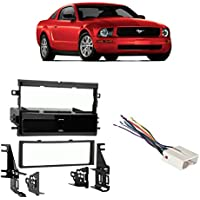 Fits Ford Mustang 2005-2006 Single DIN Stereo Harness Radio Install Dash Kit