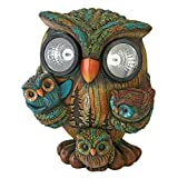 Design Toscano Bright Eyes Solar Owl Family Garden Statue