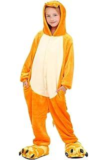 b7cef929efc4c UMIPUBO Pyjamas Enfants Animaux Cosplay Costume Anime Grenouillère Unisexe  Pyjama Combinaison de Nuit pour Fille