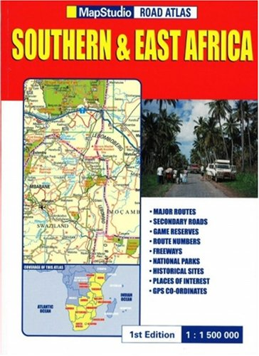 East Africa Road Map.Road Atlas Of Southern And East Africa Annette Thomas