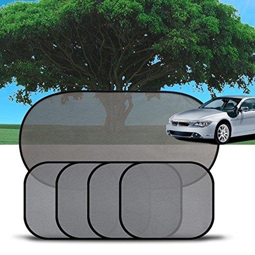 ZHCHL Home Useful 5PC/Set Black Side Car Sun Shades Rear Window Sunshades Cover Mesh Visor Shield Screen Interior UV Protection Kids Baby Travel (Color Black) Good Quality
