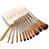 TECHICON Naked3.0 Makeup Brushes Kit with A Metallic Storage Box - Set of 12