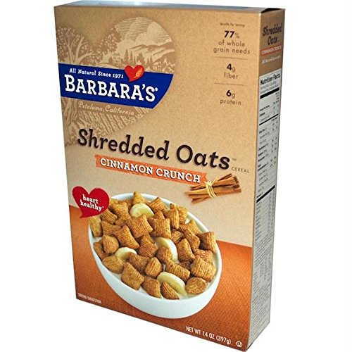 Barbara's Bakery Morning Oat Crunch Cereal - Cinnamon - Case Of 6 - 14 Oz. 14 OZ