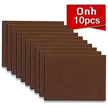 Furniture Pads - 10 Pack ON'H Self-Stick Felt Furniture Pads Hardwood Floors Protectors - 8