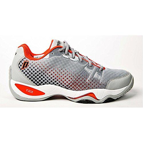 Prince T22 Lite Men's Tennis Shoes (Gray/Black/Red) (10.5 D(M) US) (Prince Shoe T22 Tennis)