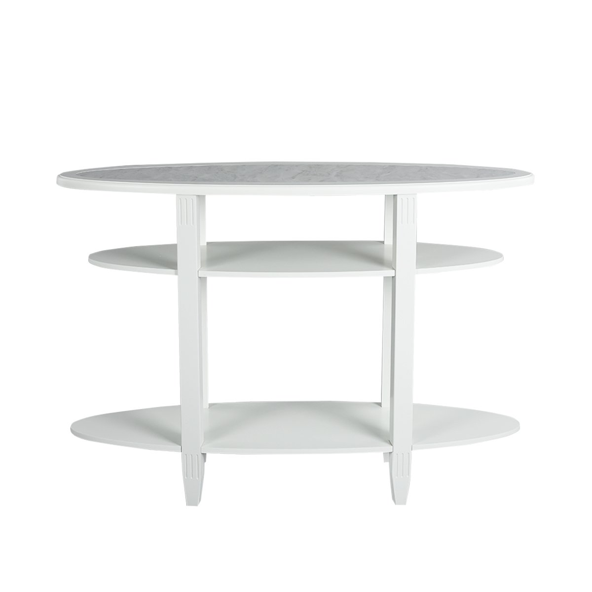 furnish 1 Modern Concise Style 3-Tier Console Table, white