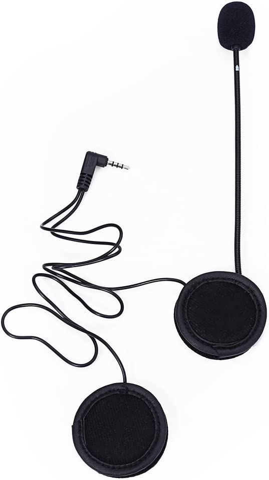 Monland Microphone Haut-Parleur Cable Doux Accessoire pour Casque de Moto Interphone Intercom