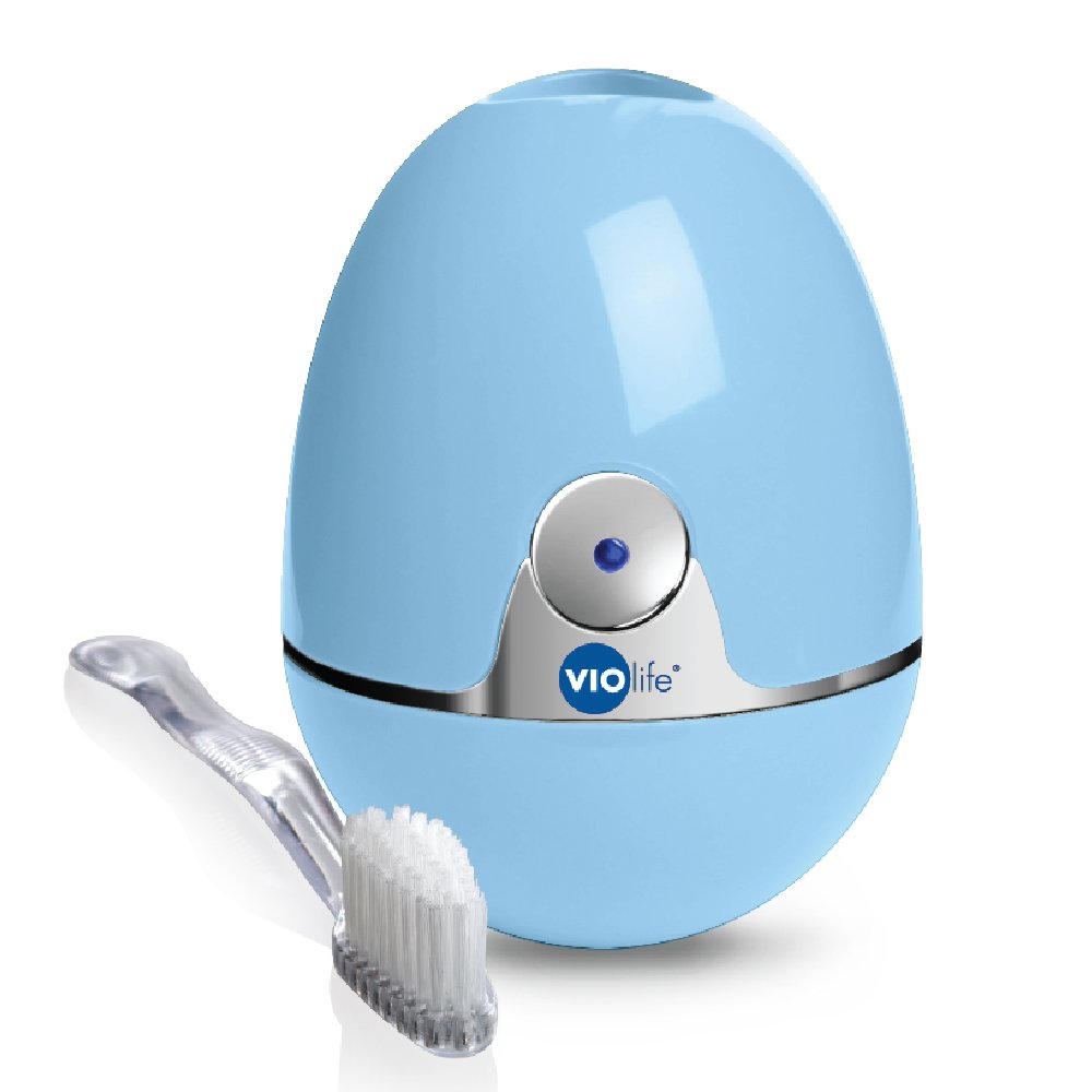 Violife Style Zapi Luxe UV Toothbrush Sanitizer, Robin Egg Blue, 6.3 Ounce