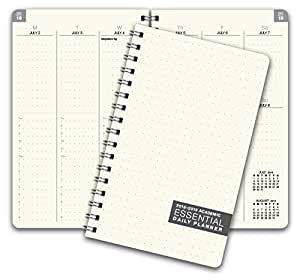 Essential 5x8 Monthly & Weekly 2018-2019 Academic Year Planner - July 2018 Through July 2019 - Professional, Simple, Easy-to-Use Design. Frosted Vinyl Covers for Extra Protection