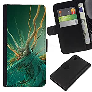 All Phone Most Case / Oferta Especial Cáscara Funda de cuero Monedero Cubierta de proteccion Caso / Wallet Case for Sony Xperia Z1 L39 // Bacteria Macro