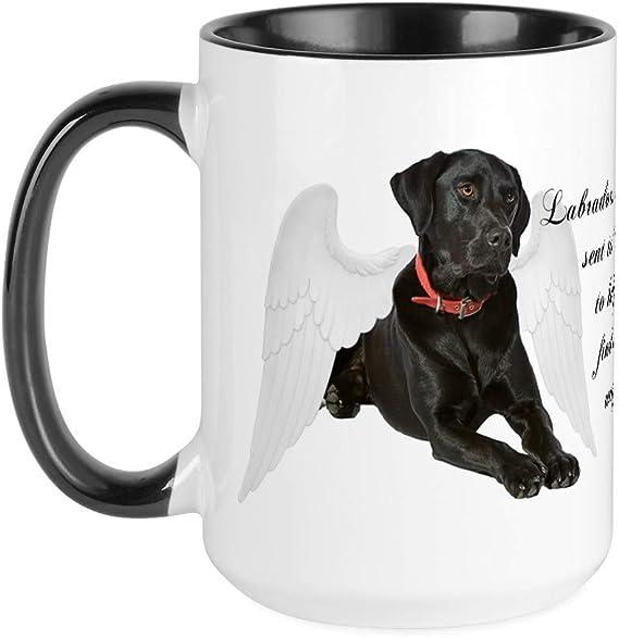 Labrador lab black dog tea company graphic art MUG 15 oz ceramic mug black lab