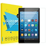 "MoKo All-New Fire HD 8 2017 Screen Protector, [Scratch Terminator] Premium HD Clear 9H Hardness Tempered Glass Screen Protector Film for Amazon Fire HD 8"" Tablet (7th Gen - 2017 Release ONLY)"